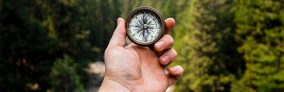 life coaching, hand holding compass